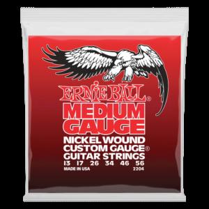 Elektromos gitárhúrkészlet  Ernie Ball nickel wound medium wound G 13-56