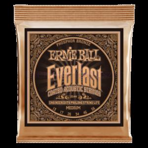 Akusztikus gitár húrkészlet Ernie Ball everlast coated p. bronze medium 13-56
