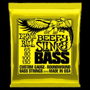 Basszusgitár húrkészlet Ernie Ball nickel wound beefy slinky  65-130