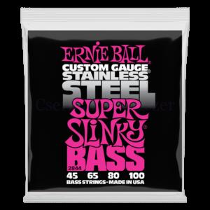 Basszusgitár húrkészlet Ernie Ball Stainless Steel B.Extra Slinky 40-95
