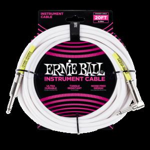 Gitárkábel Ernie Ball jack-jack egyenes 6 m