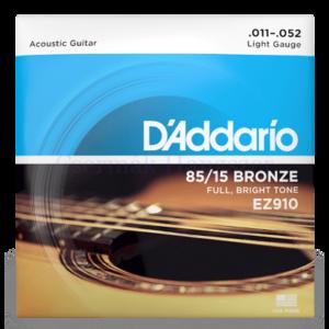 Akusztikus gitár húrkészlet D'Addario EZ910