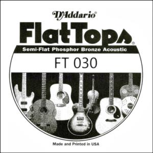 Akusztikus gitárhúr D'Addario  FlatTops SemiFlat FT030