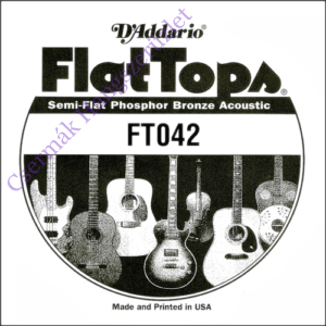 Akusztikus gitárhúr D'Addario  FlatTops SemiFlat FT042