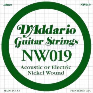 Elektromos gitárhúr D'Addario NW019