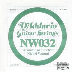 Elektromos gitárhúr D'Addario NW032