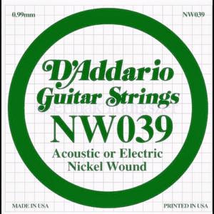 Elektromos gitárhúr D'Addario NW039