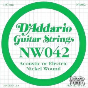 Elektromos gitárhúr D'Addario NW042