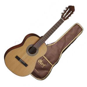 Cort klasszikus gitár, 1/2-es, matt natúr, tokkal
