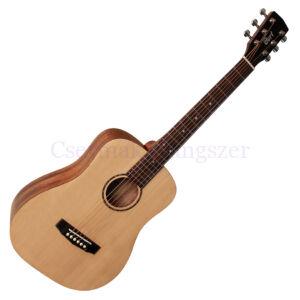 Cort akusztikus mini gitár, matt natúr, tokkal