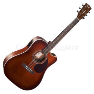 Cort akusztikus gitár elektronikával, barna