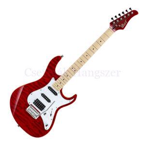 Cort el.gitár, hársfa test, áttetsző vörös